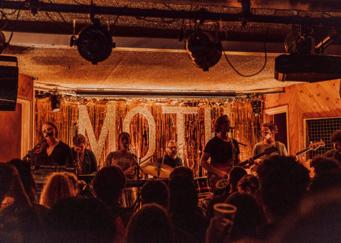 Photos: MF Tomlinson at London's Moth Club